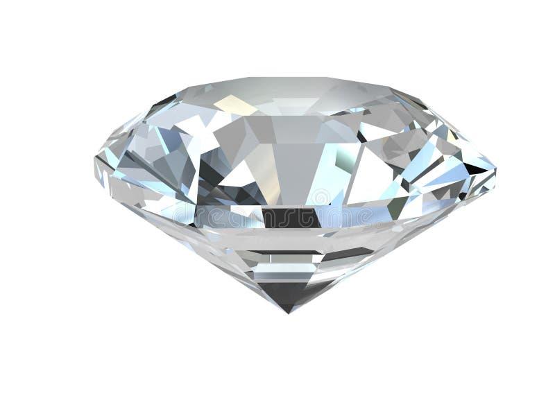 Diamant op witte achtergrond stock illustratie
