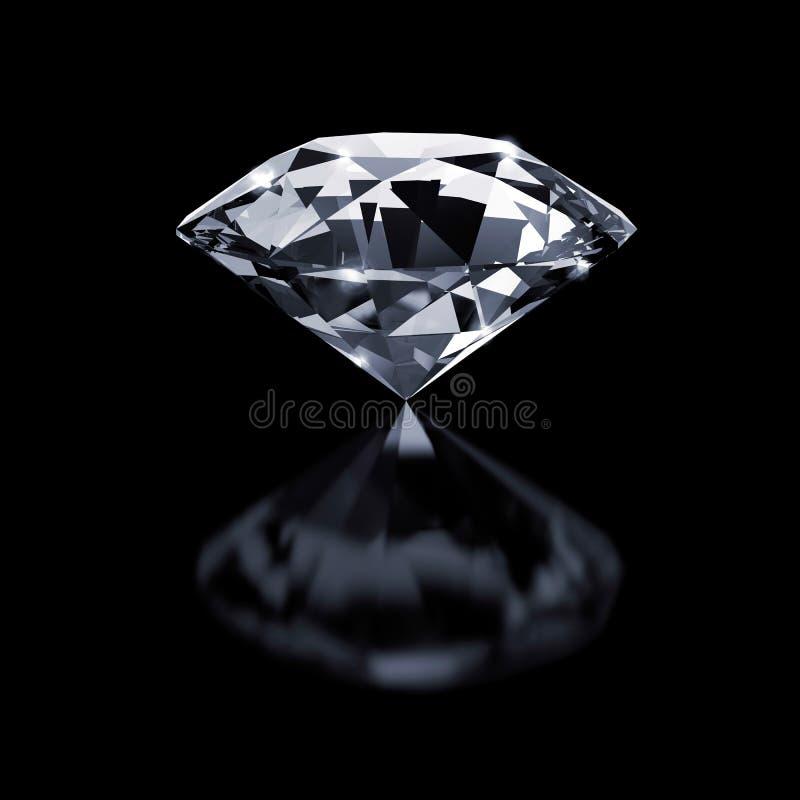 Diamant op zwarte vector illustratie