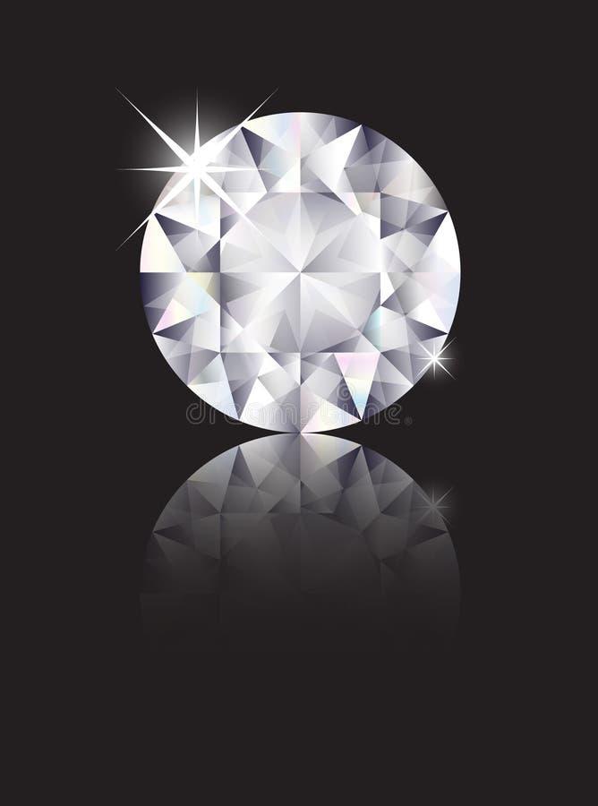 Diamant reflété illustration libre de droits