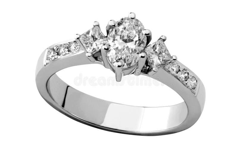Diamant-Ring lizenzfreies stockfoto