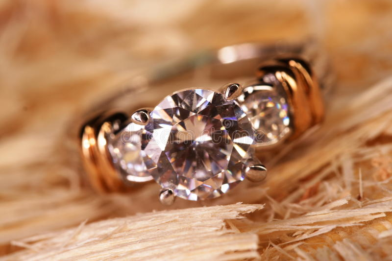 Diamant-Ring stockfoto