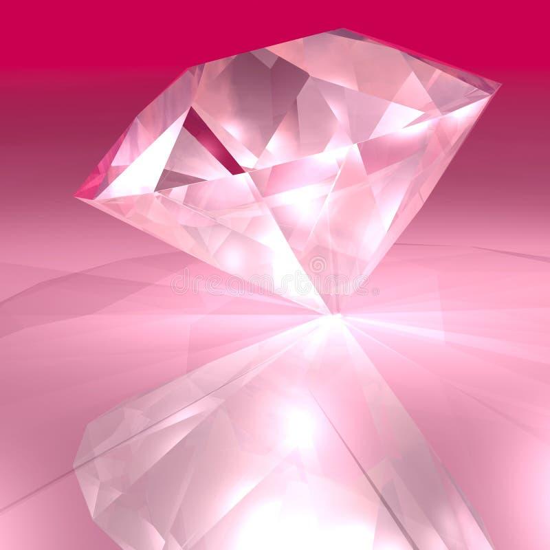 Diamant rose illustration libre de droits