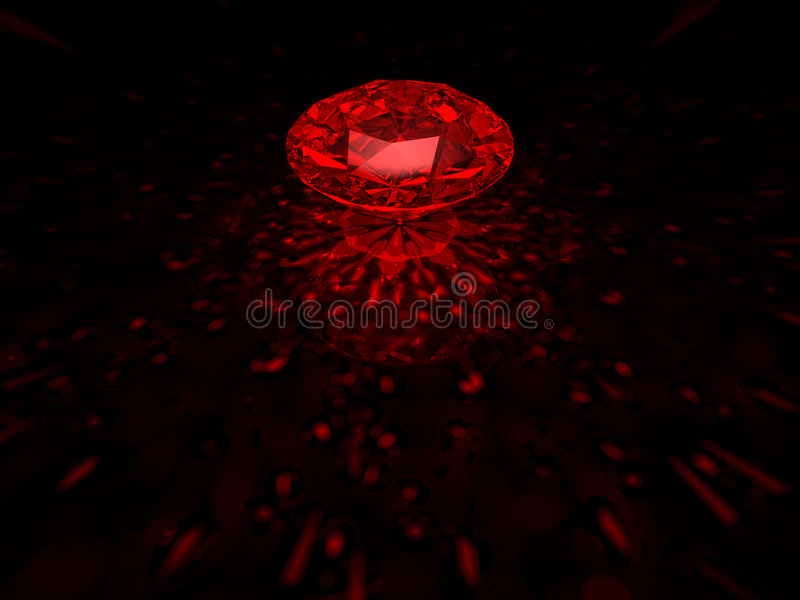 Diamant rouge photo stock