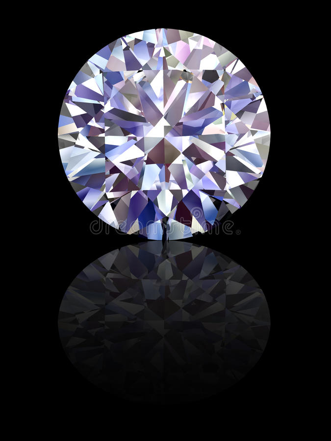 Diamant sur le fond noir lustré illustration stock