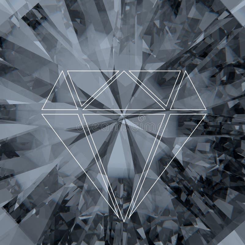 Diamant und grphic Konzept lizenzfreie stockfotos