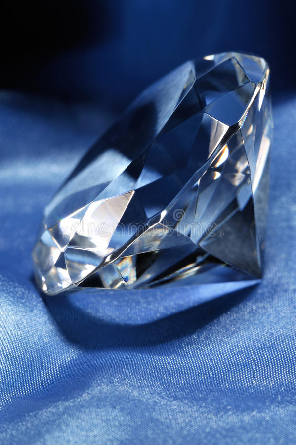 Diamant und Seide stockfoto