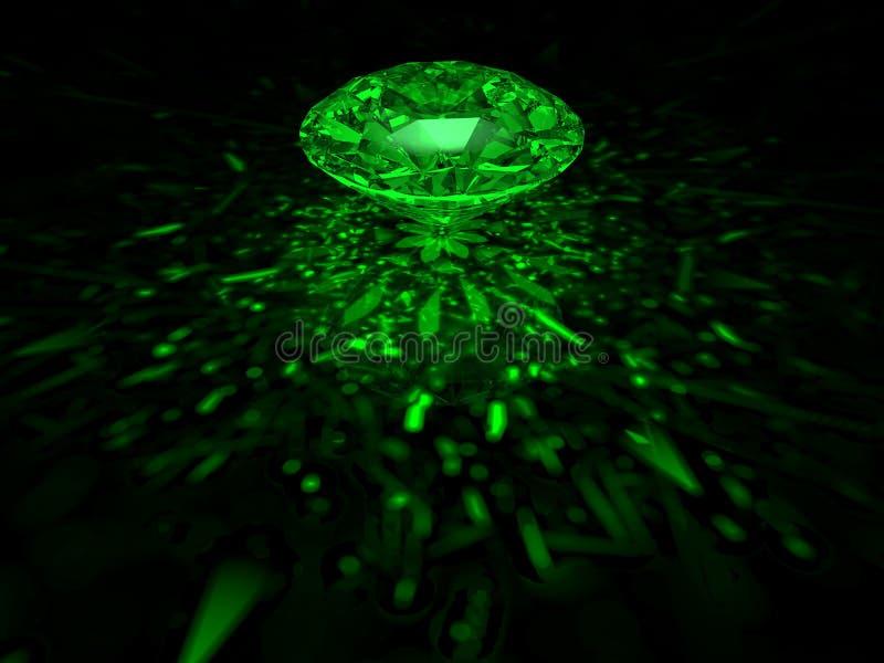 Diamant vert illustration de vecteur