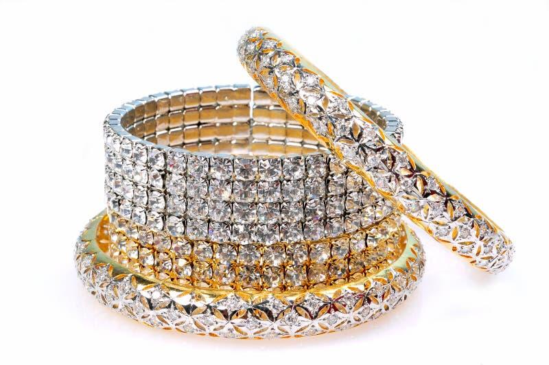 Diamantarmbänder stockbilder