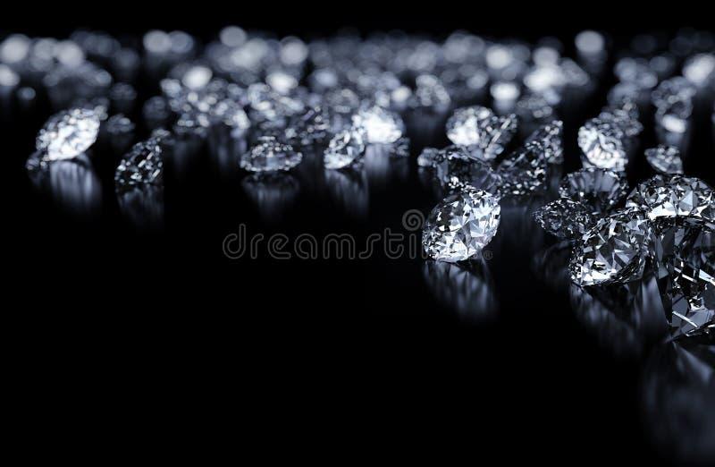 Diamantbakgrund vektor illustrationer