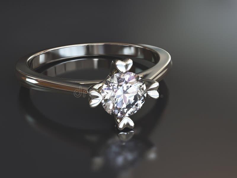 Diamantcirkel royaltyfri illustrationer