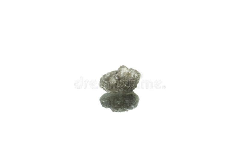 Diamante áspero isolado fotografia de stock