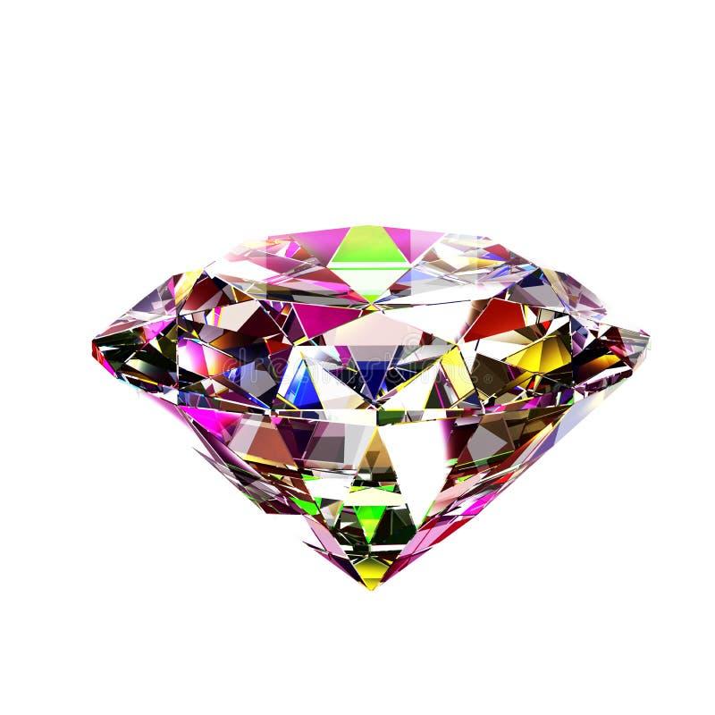 Diamante abstrato colorido ilustração stock