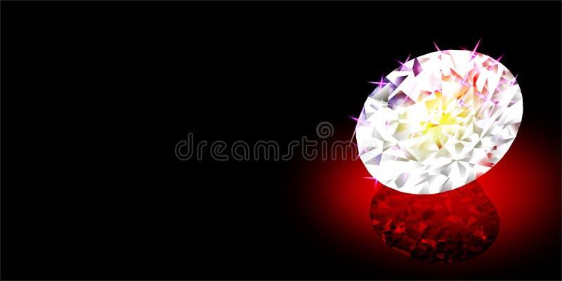 Diamante abstrato do vetor com efeito da luz colorido e textura, ilustração do vetor ilustração stock