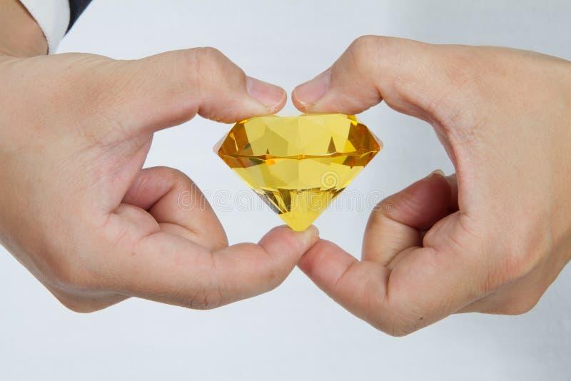Diamante amarelo enorme fotos de stock