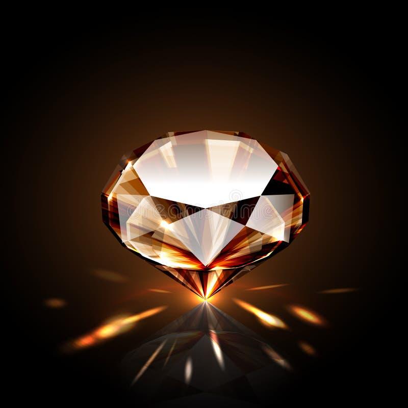 Diamante ambarino stock de ilustración
