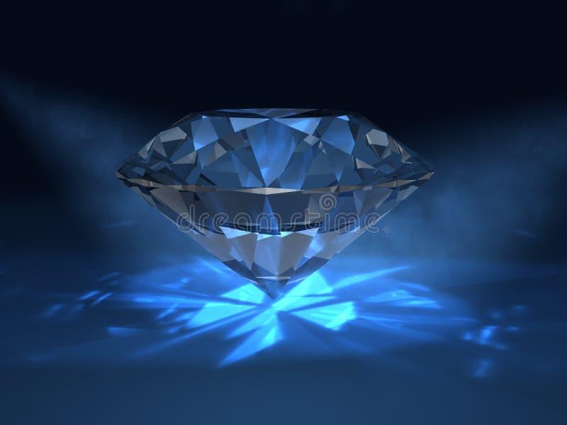 Diamante Azul Stock De Ilustración. Ilustración De Gema