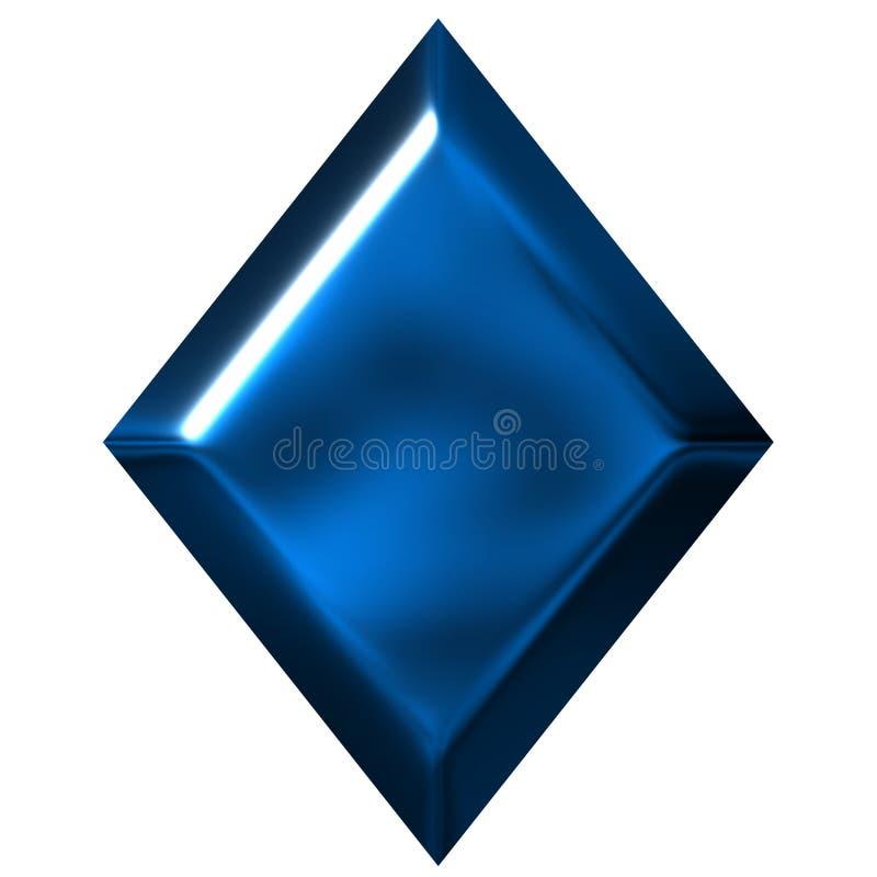 Diamante azul ilustração stock