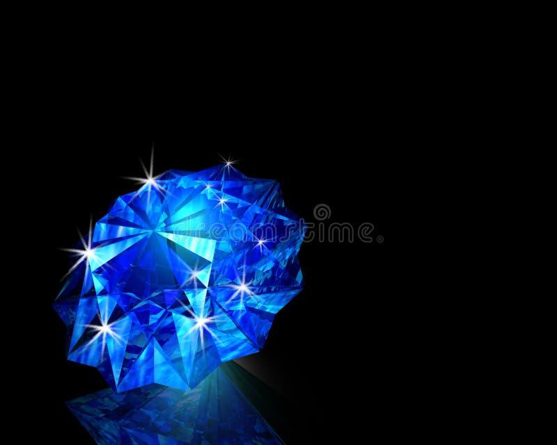 Diamante Azul Imagen De Archivo