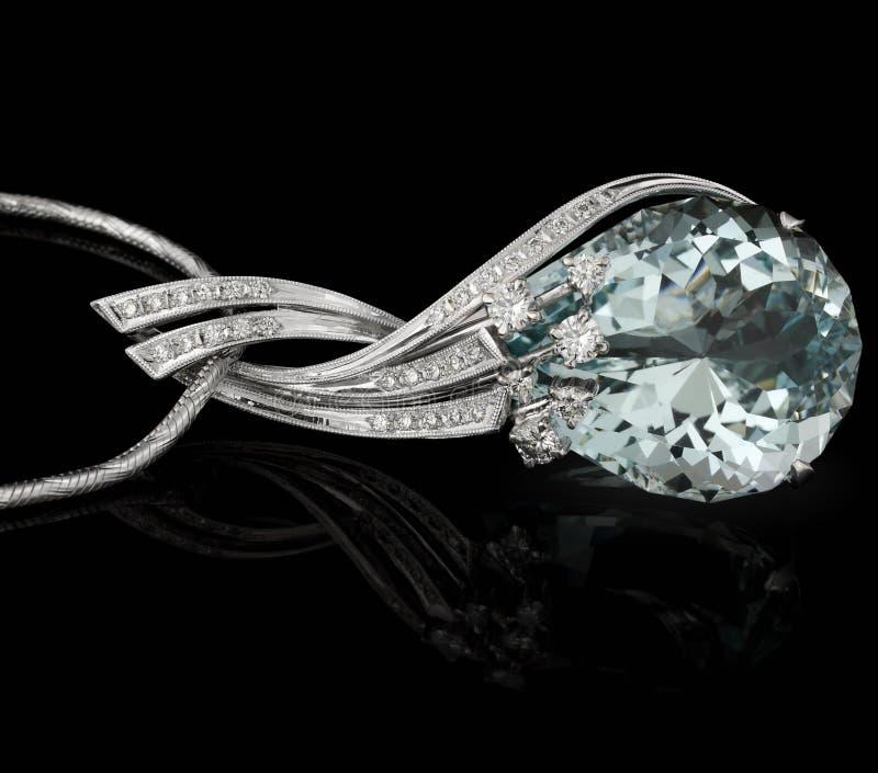 Diamante azul grande foto de stock