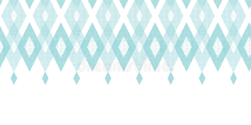 Diamante azul pastel do ikat da tela horizontal ilustração do vetor