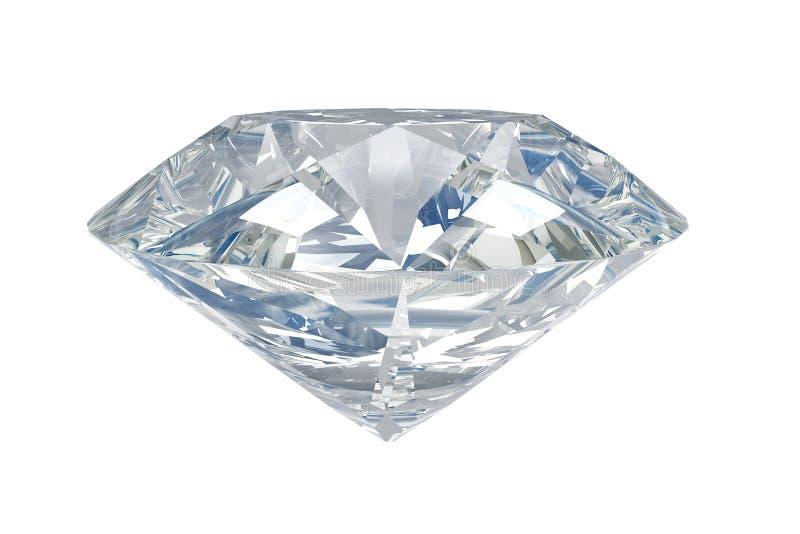 Diamante blanco ilustración del vector