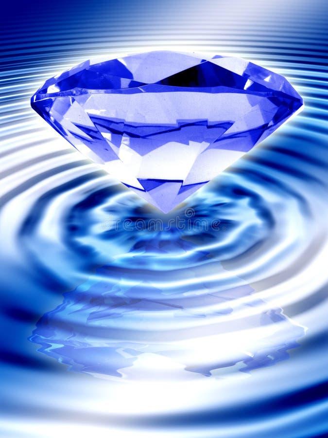 Diamante blu illustrazione vettoriale