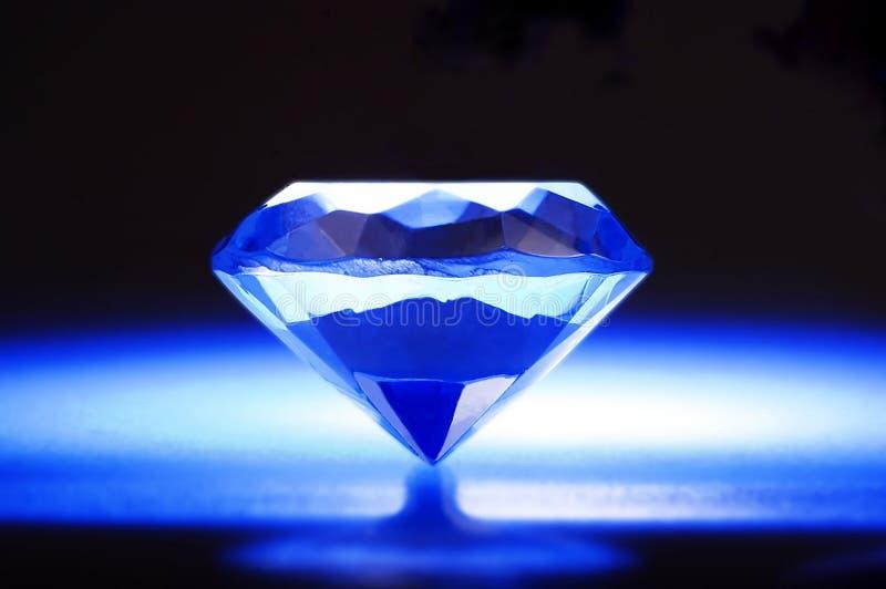 Diamante blu fotografia stock libera da diritti