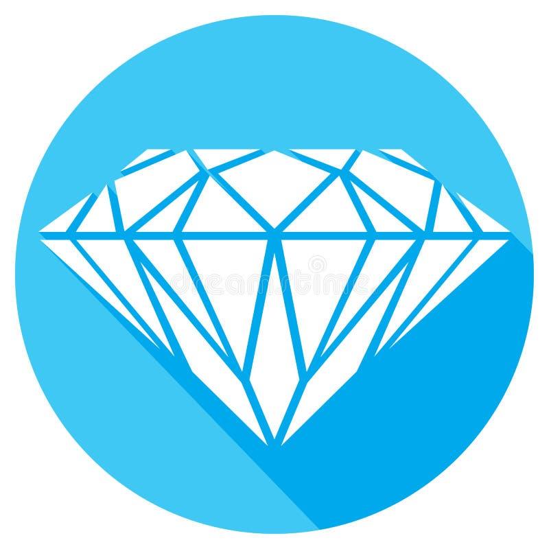 Diamante blu illustrazione di stock