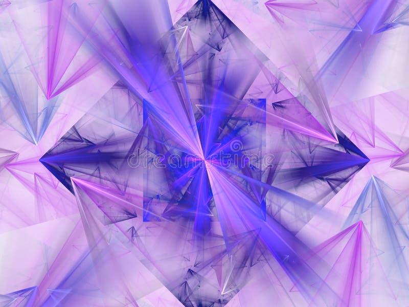 Diamante bonito 3d ilustração, fundo abstrato agradável ilustração stock