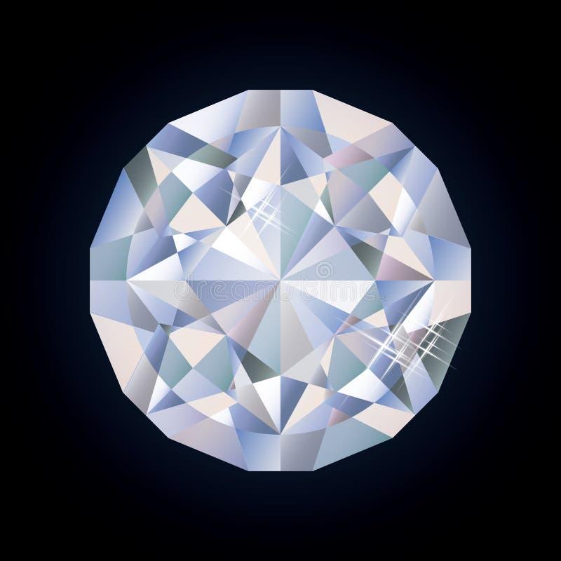 Diamante brilhante brilhante ilustração royalty free