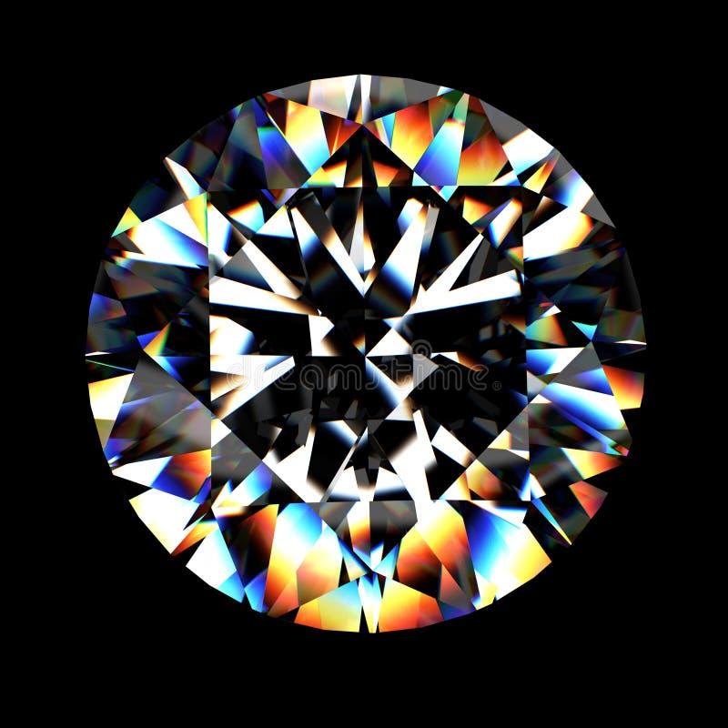 diamante brilhante do corte 3d ilustração stock