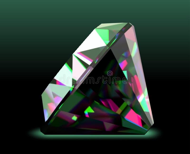 Diamante brilhante e brilhante. Vetor ilustração royalty free