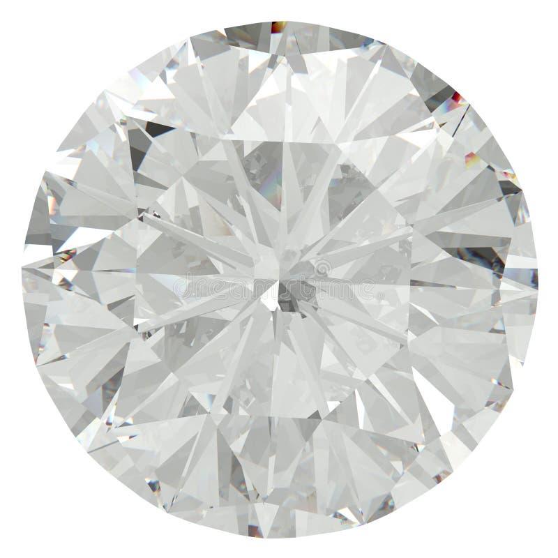 Diamante brilhante redondo ilustração do vetor