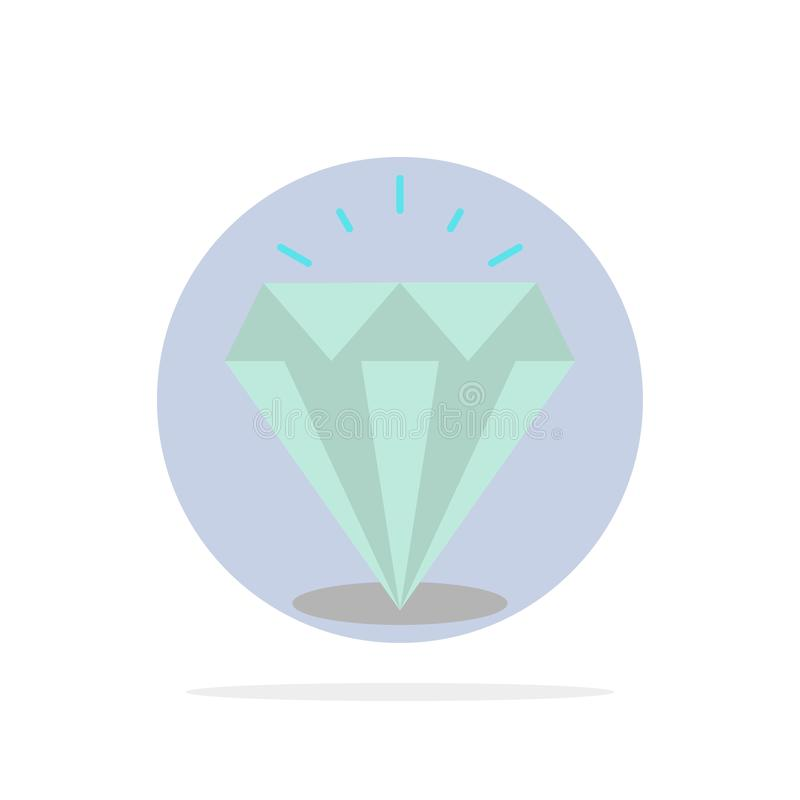 Diamante, brillo, icono plano del color de fondo abstracto costoso, de piedra del círculo stock de ilustración