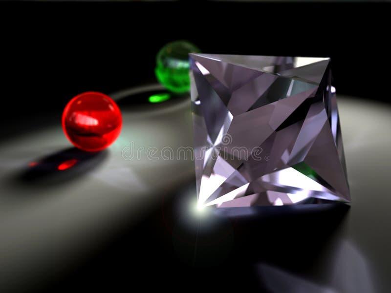 Diamante-caustico fotografia stock libera da diritti
