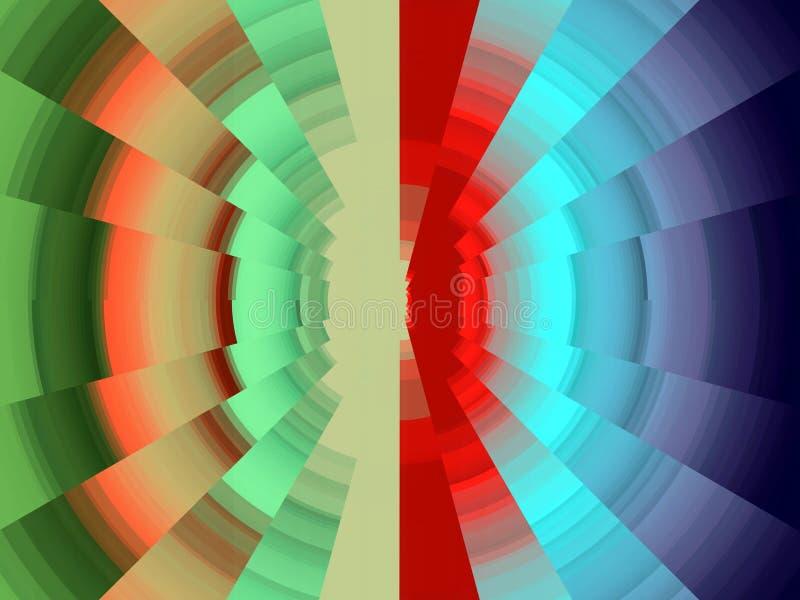 Diamante circular verde vivo elegante como fondo de las luces, gráficos, fondo abstracto y textura stock de ilustración