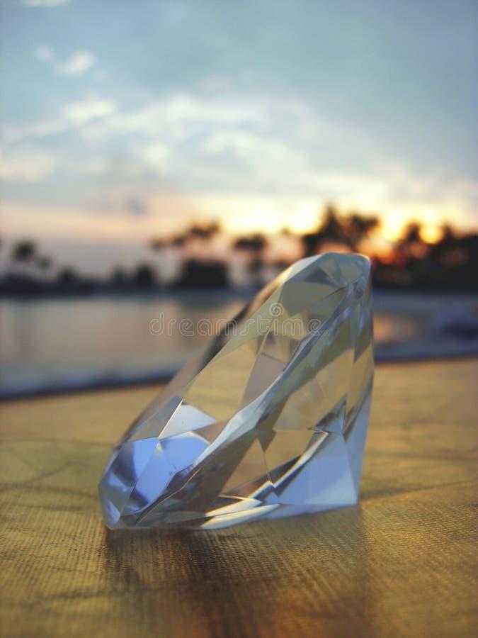 Diamante con il tramonto tropicale fotografia stock libera da diritti