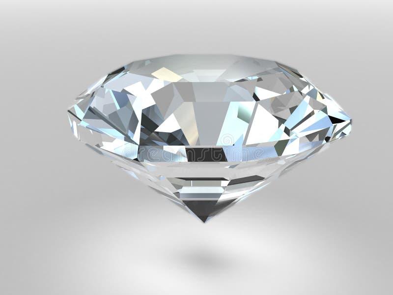 Diamante con le ombre molli royalty illustrazione gratis