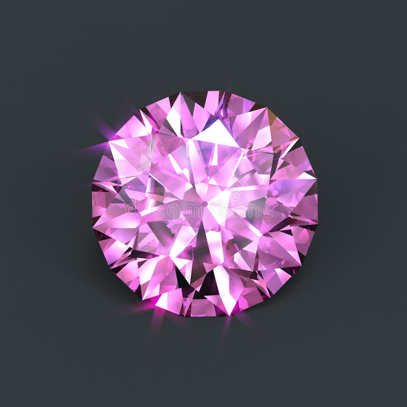 Diamante cor-de-rosa ilustração royalty free