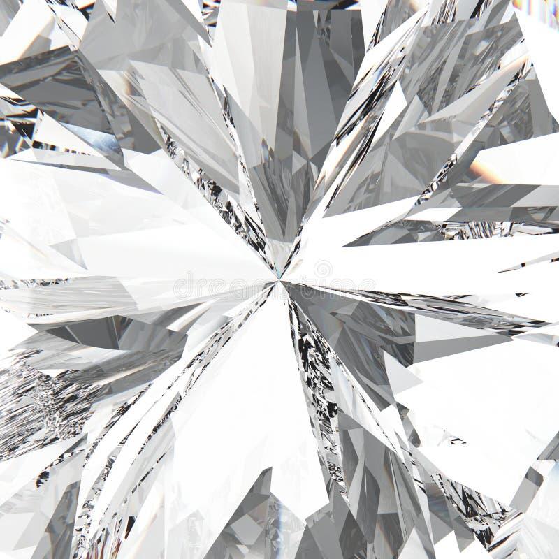 diamante costoso de la joyería de la piedra preciosa macra del enfoque del ejemplo 3D stock de ilustración