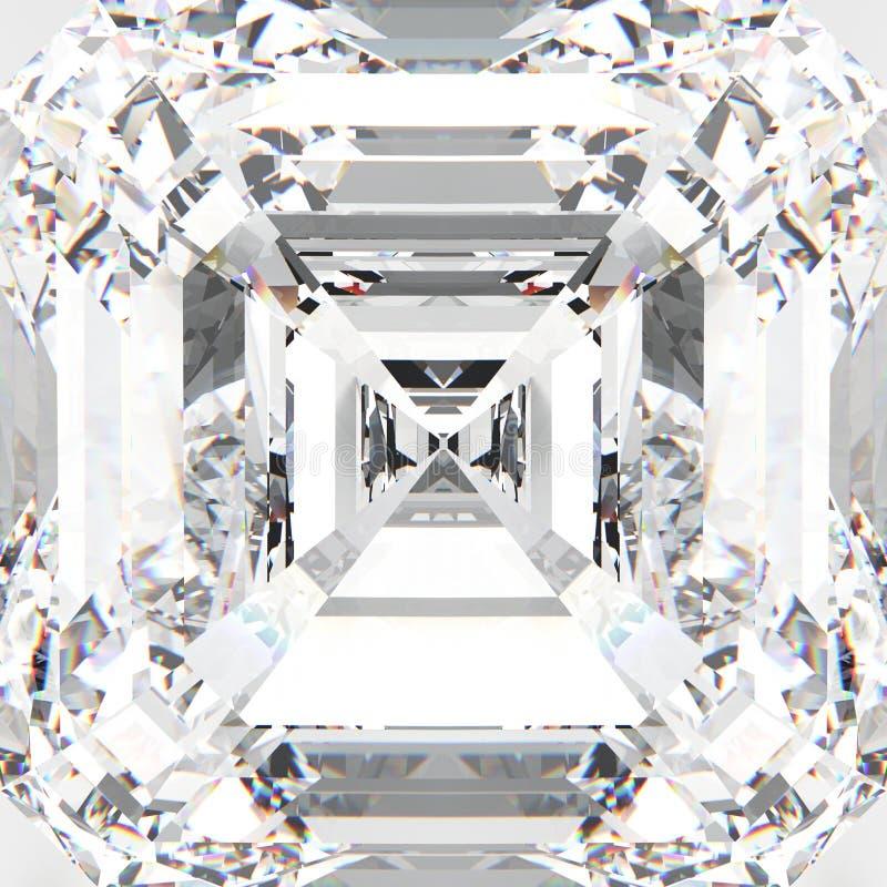 diamante costoso de la piedra preciosa blanca macra del enfoque del ejemplo 3D stock de ilustración