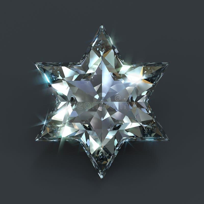 Diamante da estrela de David ilustração do vetor