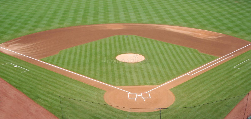 Diamante de béisbol fotografía de archivo
