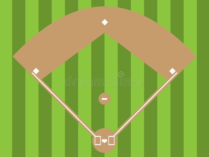 Diamante de basebol ilustração stock