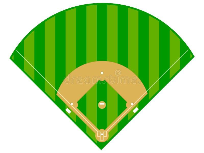 Diamante de basebol ilustração do vetor