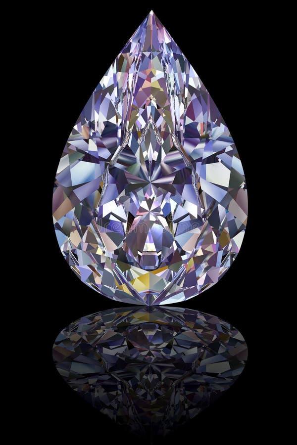 Diamante de la dimensión de una variable de la gota en negro brillante ilustración del vector