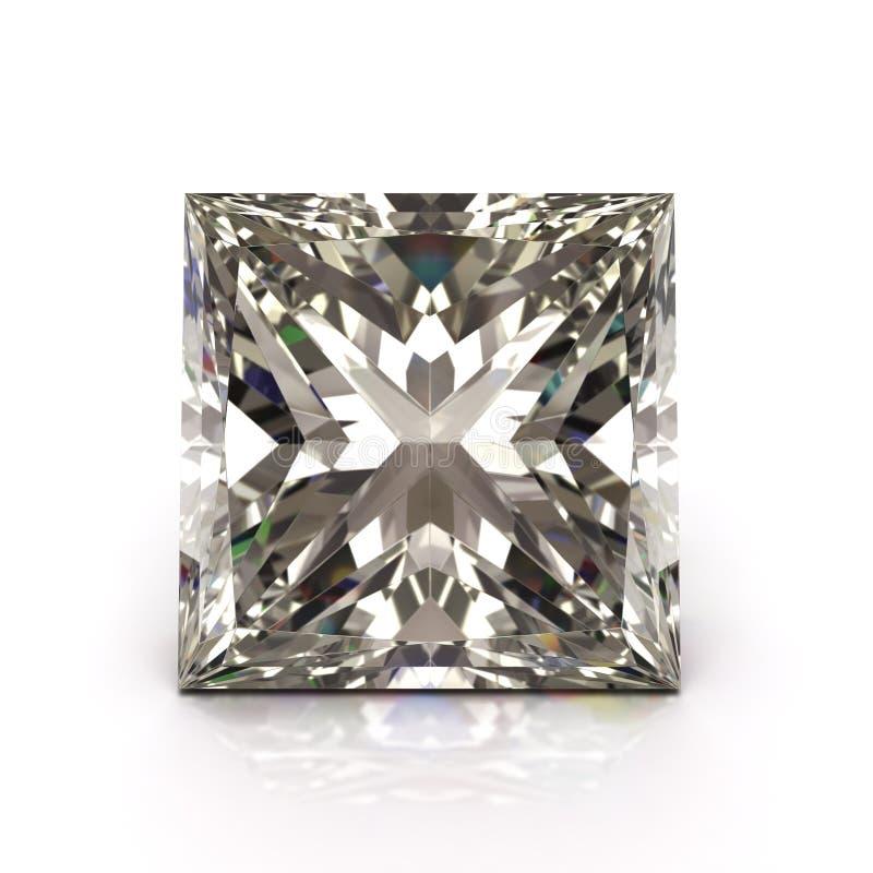 Diamante del corte de la princesa libre illustration