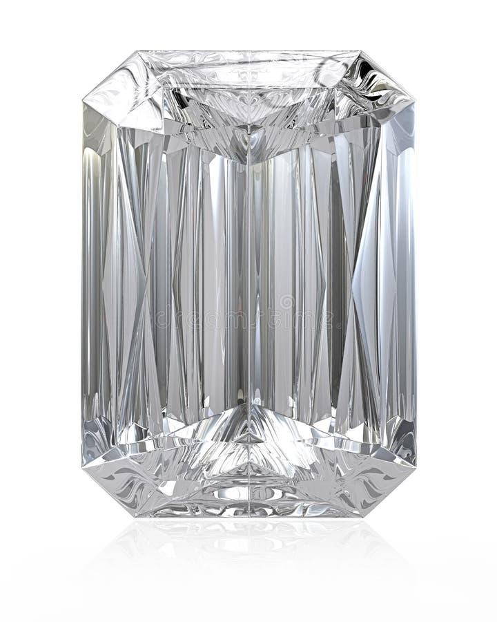 Diamante del corte del radiante stock de ilustración