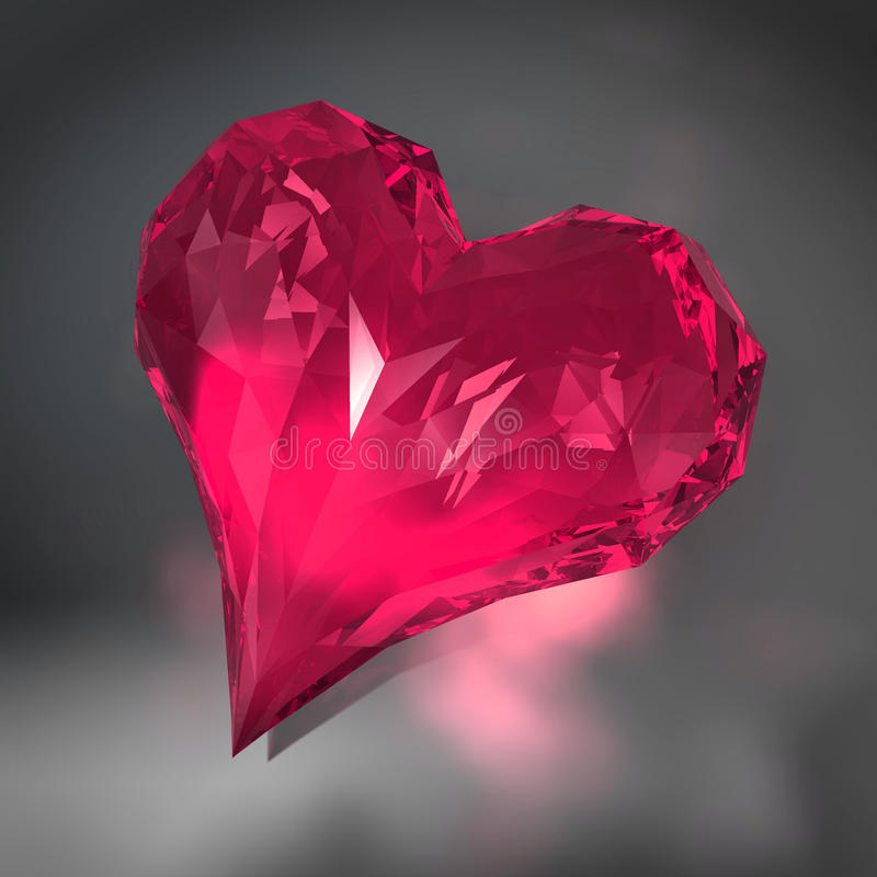 Diamante del cuore illustrazione di stock