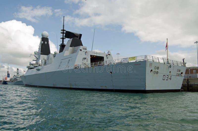 Diamante del HMS, destructor real de la marina de guerra